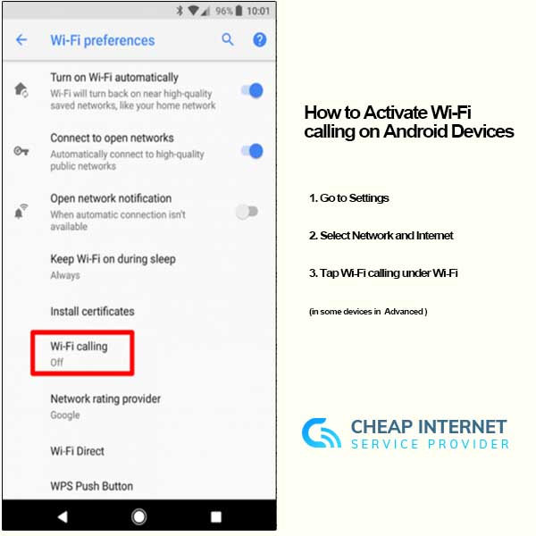 How to Activate Wi-Fi calling on Android Devices